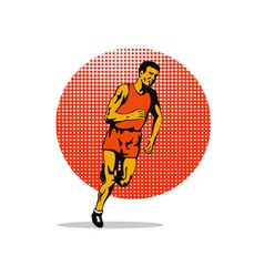 Marathon Runner Athlete Running vector image
