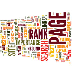 Free web traffic through page rank text vector
