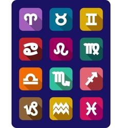 Set of icons of the signs of the zodiac vector