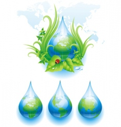 World droplet vector