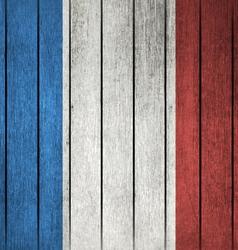 Grunge Flag Of France vector image