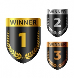 Winners shield vector