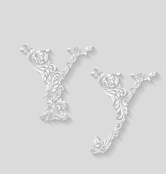 Decorated letter y vector image