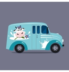 Dairy milk delivery service vector