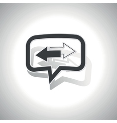 Curved opposite message icon vector