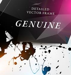 Modern Paint Splash Background vector image