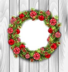 Christmas wreath with balls vector