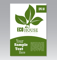 Flyer or cover design green house Brochure or vector image