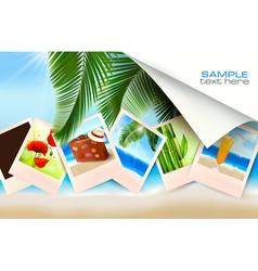 Background with photos vector