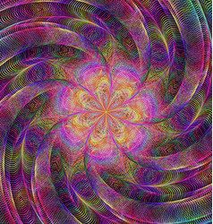 Abstract rotating colorful fractal art background vector