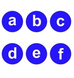 Basic font for letters vector