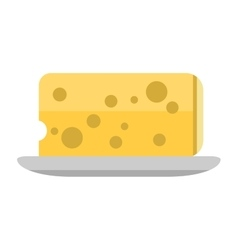 Cheese slices isolated vector image vector image