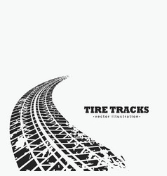 Dirty tire tracks fading into the horizon vector