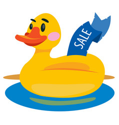 duckling swimming ring colored for children vector image vector image