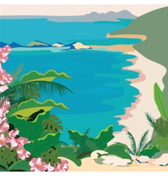 Exotic paradise beach vector