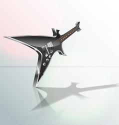 heavy metal guitar vector image vector image