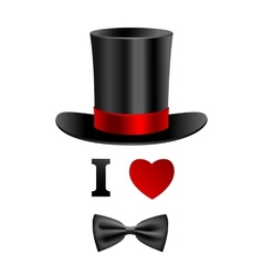 I love gentleman card vector image vector image