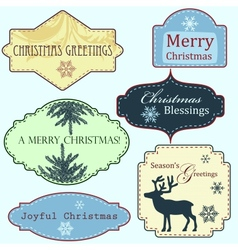 Merry Christmas frames set vector image