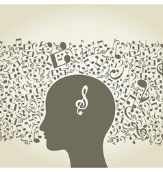Musical mind vector image vector image