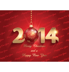 new year bauble background 2211 vector image vector image