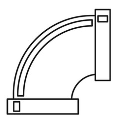 Pipe connection icon outline style vector