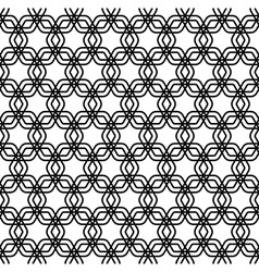 Repeating black and white grid pattern vector