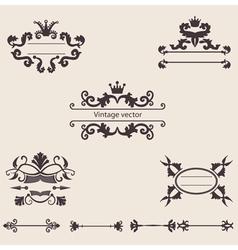 set of vintage ornament vector image vector image