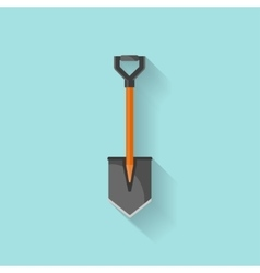 Shovel in a flat style for campingGarden tool vector image vector image