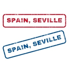 Spain seville rubber stamps vector