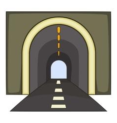 Tunnel icon cartoon style vector