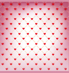 Valentines day wrapping paper with red hearts vector