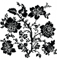 vector floral and rose ornament vector image
