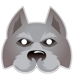 Wolf mask vector