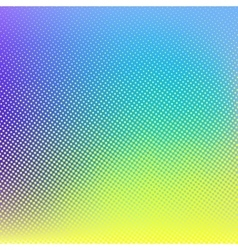 Blue yellow halftone background vector image