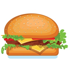 Hamburger icon isolated on white food vector