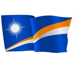 flag of Marshall Islands vector image