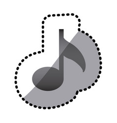 grayscale music sign icon vector image