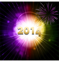 2014 new year firework2 vector