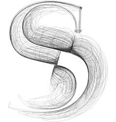 Sketch font letter s vector