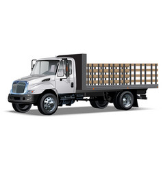 Truck flatbed vector