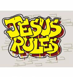 Jesus rules vector
