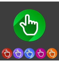 Drag hand flat icon vector