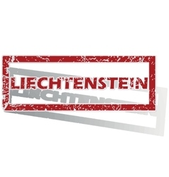 Liechtenstein outlined stamp vector