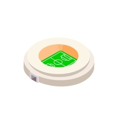 Football round stadium 3d icon vector