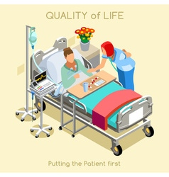 Patient visit 02 people isometric vector