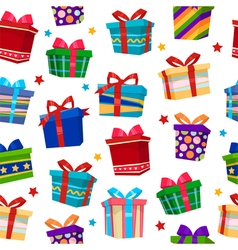 Colorful gift boxes seamless pattern vector