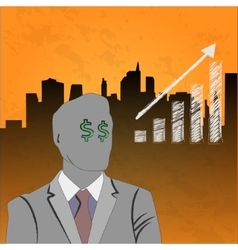 Businessman growth up vector