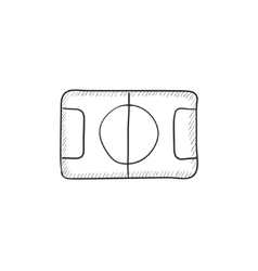 Stadium layout sketch icon vector