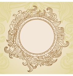 Abstract hand drawn frame with copy-space vector image vector image