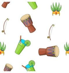 Attractions of brazil pattern cartoon style vector